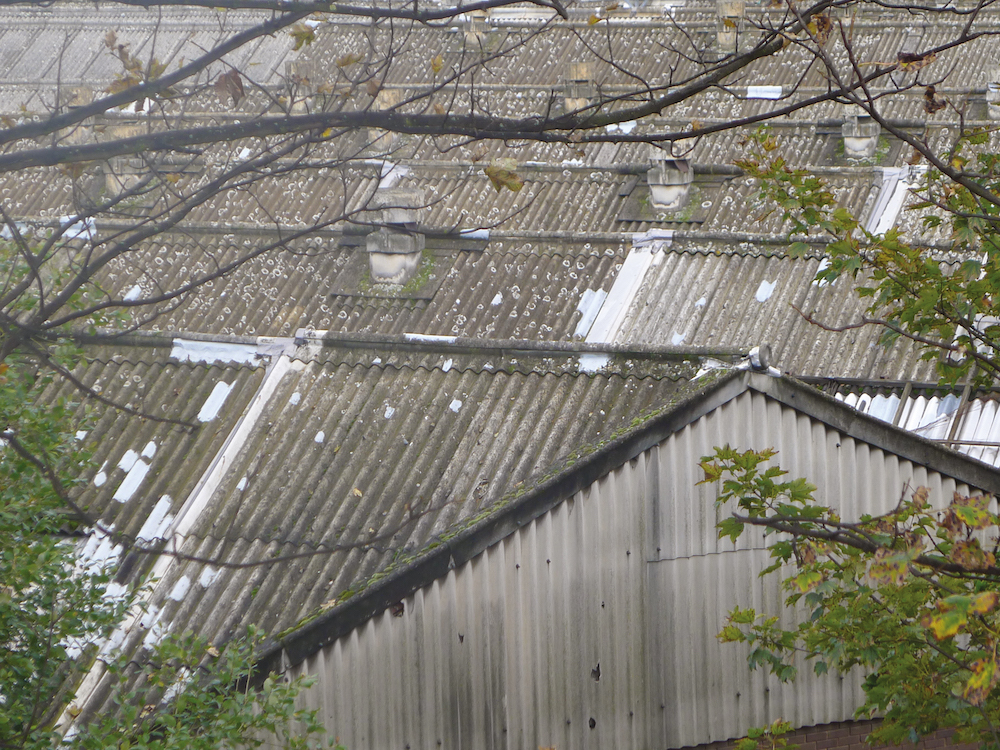 Corrugated asbestos roofing sheets