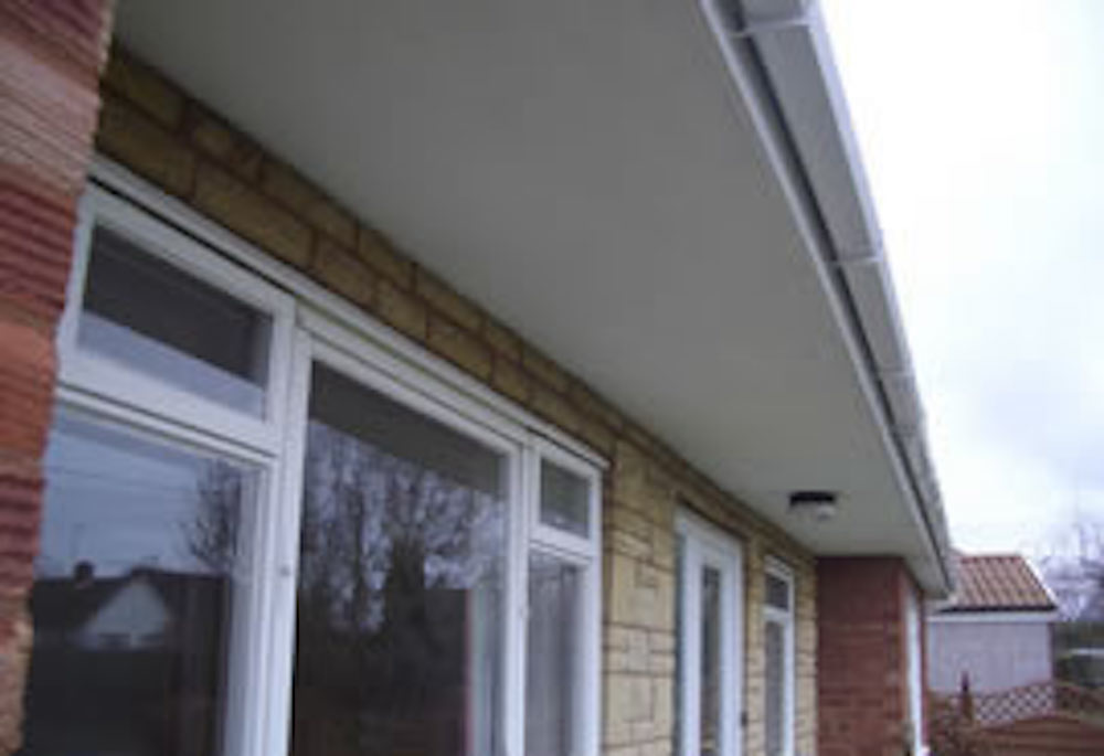 Asbestos soffits / guttering and downpipes