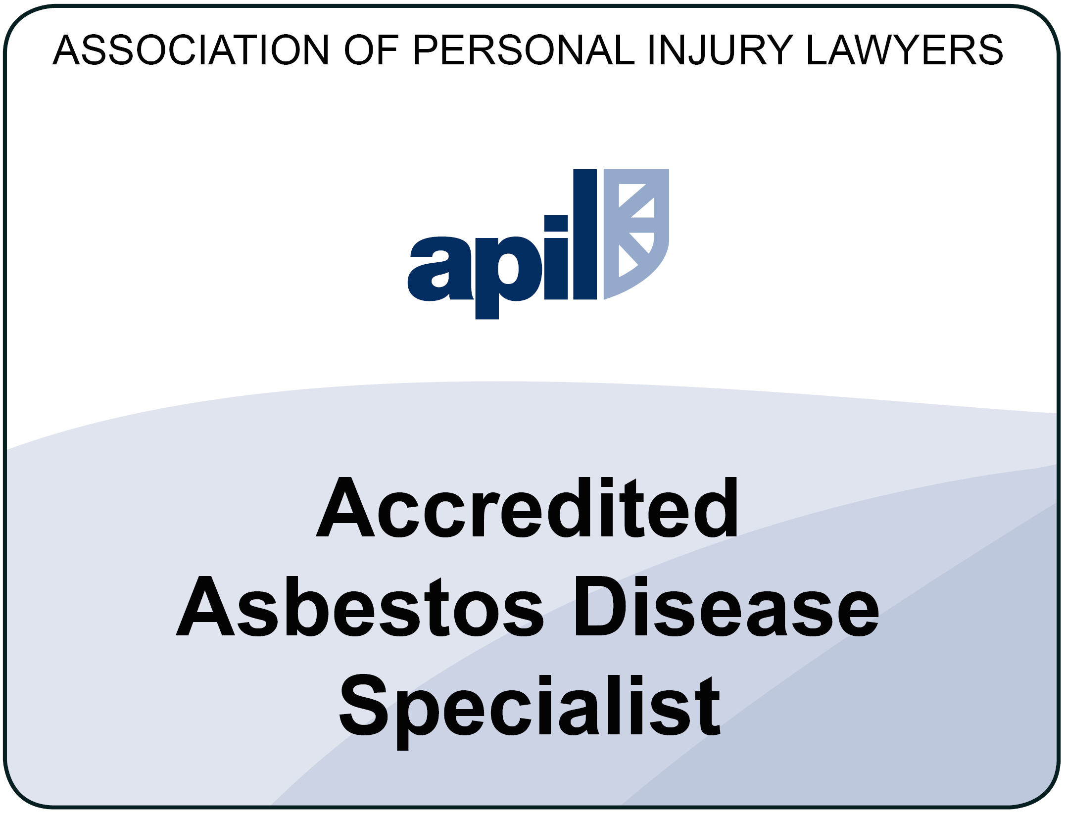 Paul Glanville is an Accredited Asbestos Disease Specialist - Association of Personal Injury Lawyers