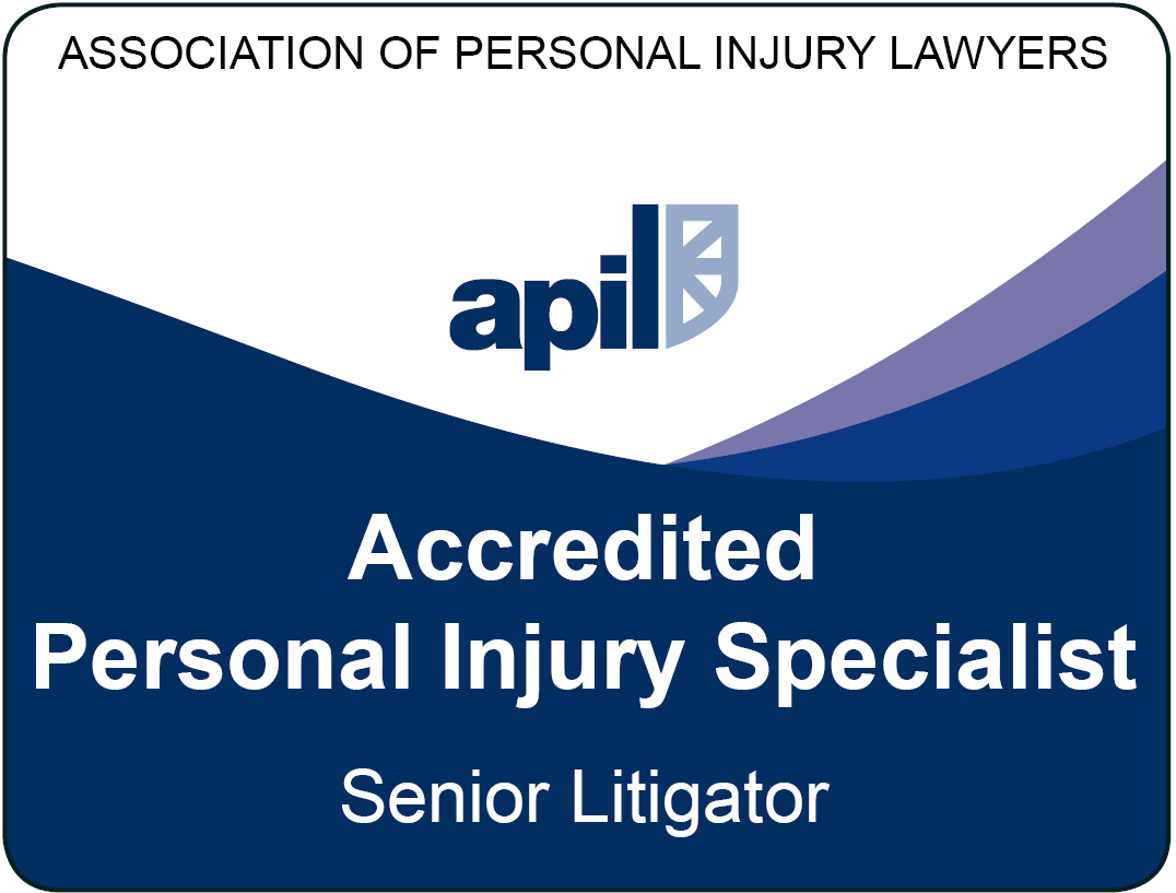 Fozia Hussain is an Accredited Senior Litigator - Association of Personal Injury Lawyers