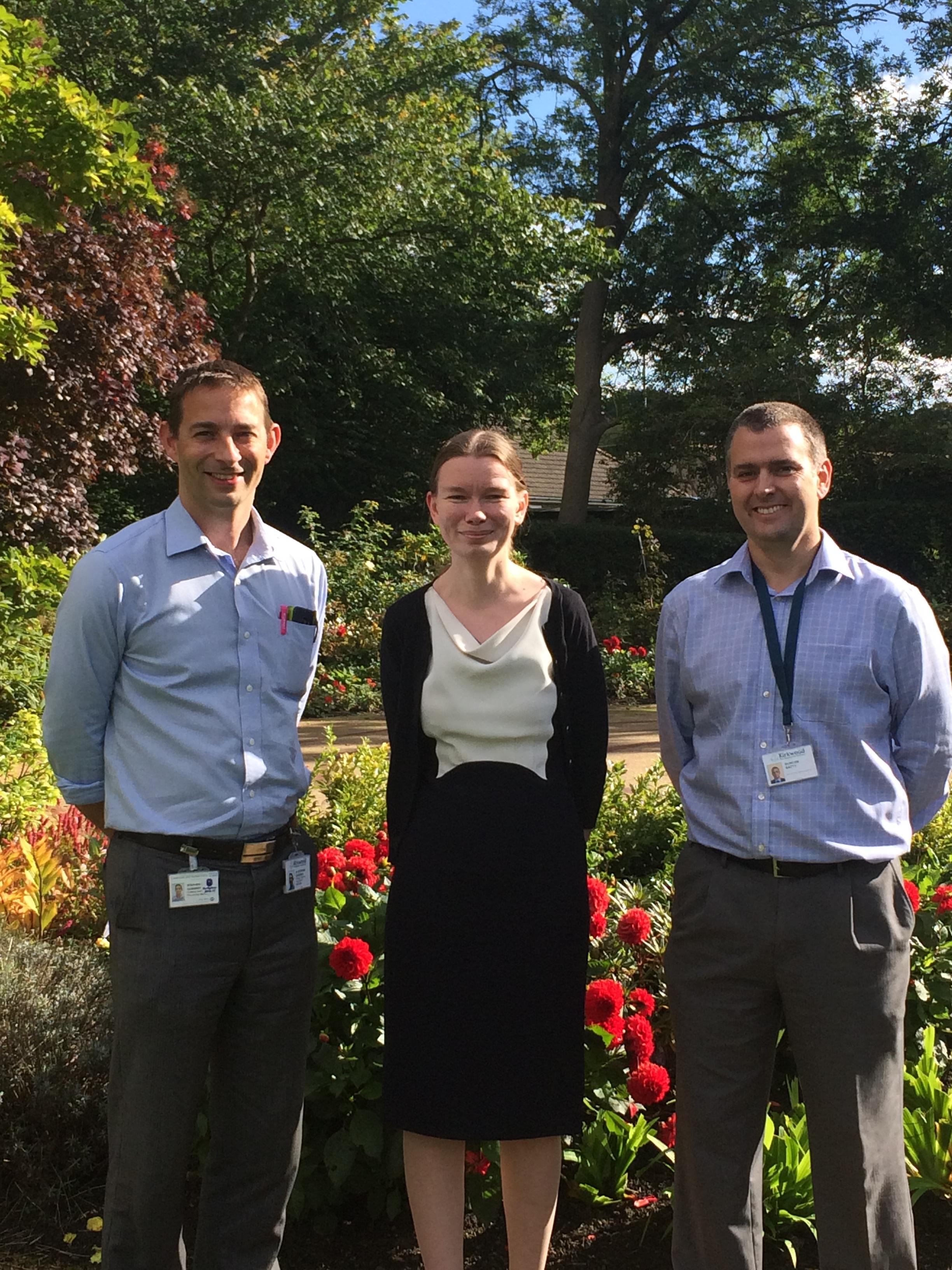 Dr Stephen Oxberry, Helen Wilson, Duncan Batty - Kirkwood Hospice