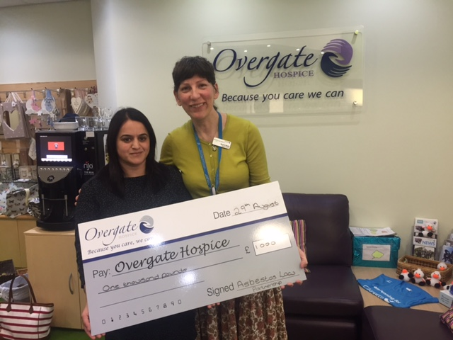 Fozia Hussain and Dr Rachel Shields - Overgate Hospice