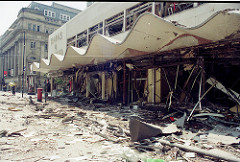 Manchester Arndale Bomb 1996 outside Marks & Spencer