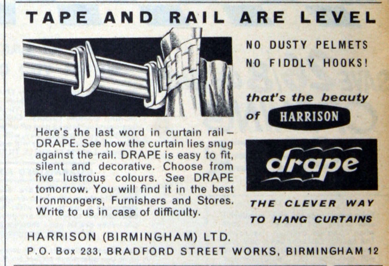 Harrison Drape Advert